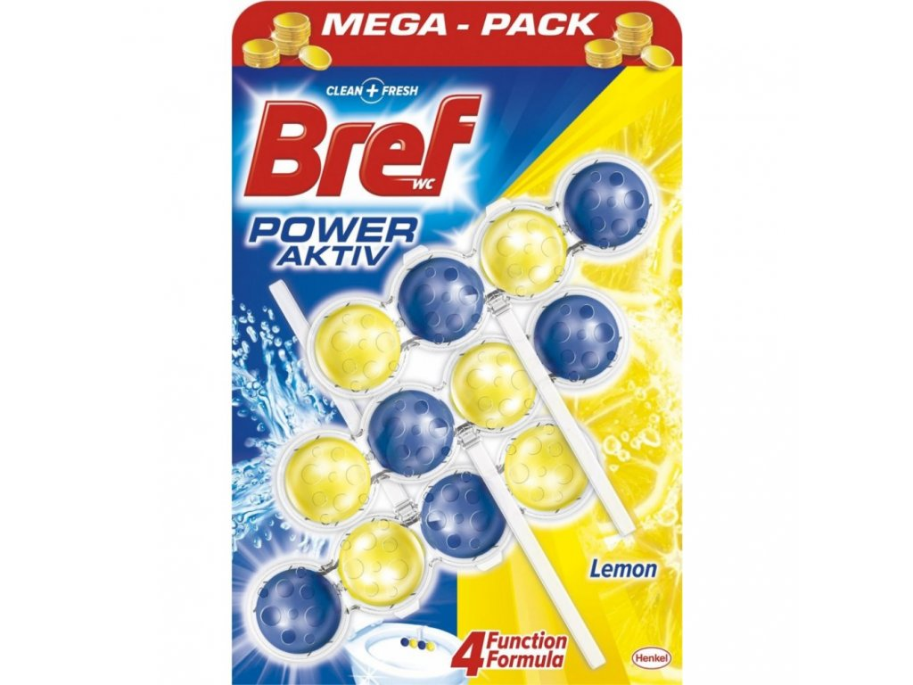 Bref WC Power Aktiv citron 3 x 50 g